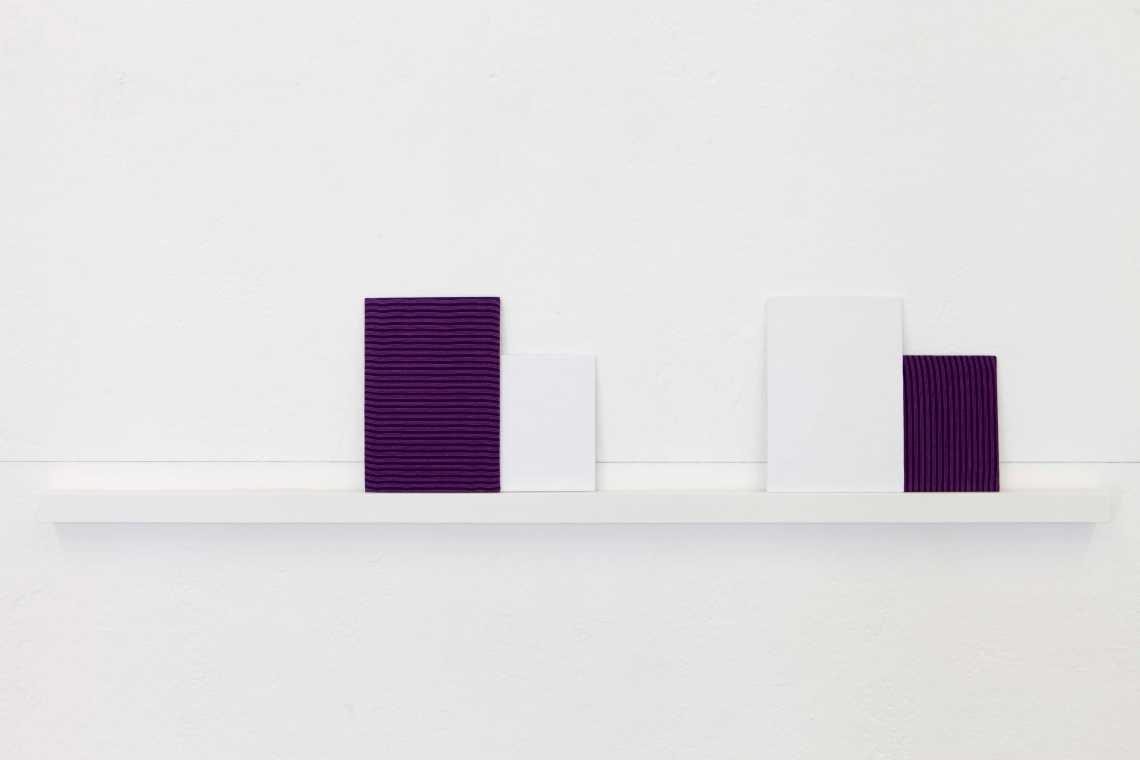 ehren, alle (2014) Stoffe, lackiertes Holz, Garn je ca. 140 x 30 x 4 cm