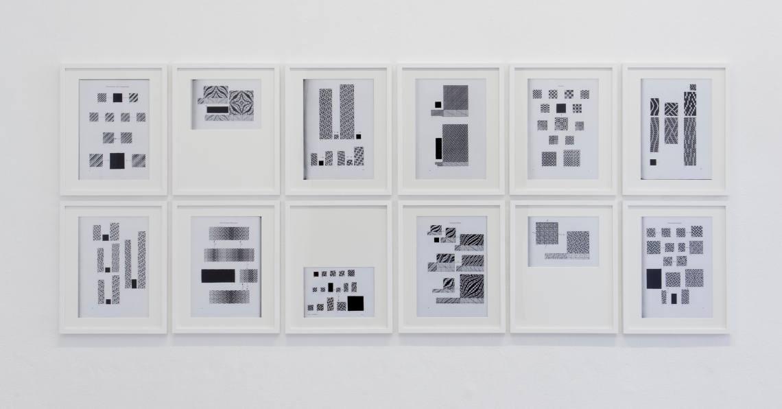 BINDUNGSLEHRE (2014/2015) Druck / Zeichnung auf Papier, Serie je 40 x 50 cm