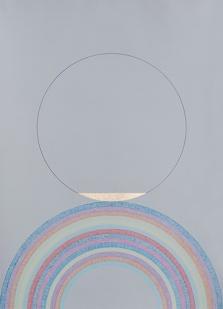 Claudia Wieser, Ohne Titel (2016), 55 cm x 39 cm, siebenfarbige Lithografie mit 23,6 Karat Blattgold